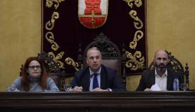 El alcalde de San Roque, durante el Pleno ordinario de febrero