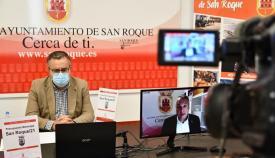 Ángel Gavino en la presentación del Presupuesto de San Roque para 2021