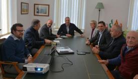 El alcalde, reunido con los responsables de Millenium.