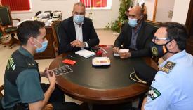 Imagen de la recepción en el despacho del alcalde de San Roque