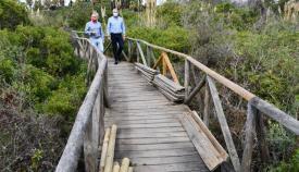 La pasarela del estuario del río Guadiaro