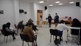 Belén Jiménez ha recibido a los siete trabajadores. Foto: Multimedia