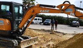 Las obras del parque de calistenia ya han comenzado. Foto Multimedia