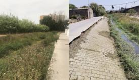 Imagen enviada por el Ayuntamiento de San Roque del antes y el después
