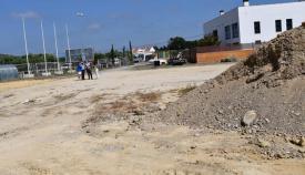Movimiento de tierras en el futuro ferial de San Enrique