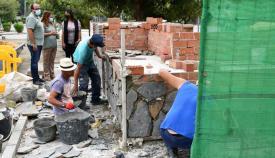 Obras en la zona de ocio de Guadarranque. Foto: Multimedia