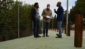 El alcalde de San Roque ha visitado la zona.