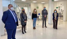 Las autoridades presentes en la inauguración del Centro de Salud de Los Cortijillos