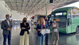 La Junta resalta las mejoras del Consorcio de Transportes en la comarca