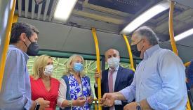 Instalan purificadores de aire en autobuses del Consorcio en la comarca