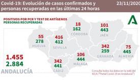 En la provincia de Cádiz se han recuperado 441 personas