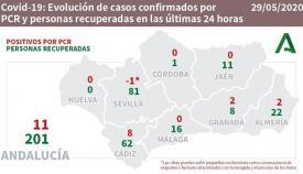En Cádiz hay ocho nuevos positivos por PCR