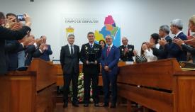 Marlaska y Lozano entregan la Medalla de la Comarca a la Policía Nacional
