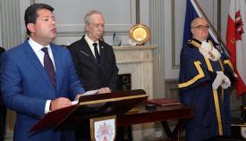 Fabian Picardo elogió el servicio público prestado por Adolfo Canepa. Foto: Info Gibraltar.