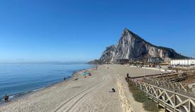 El Peñón de Gibraltar desde La Línea. Sergio Rodríguez