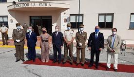 Landaluce recibe al nuevo comandante jefe del Batallón de Guerra Electrónica