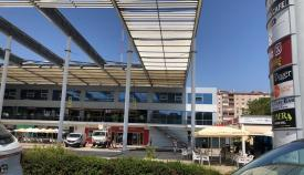 Comienzan los trabajos para renovar el alumbrado de Plaza Andalucía