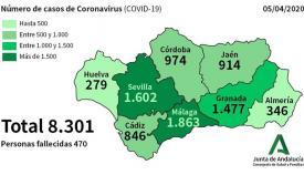 Cádiz es la sexta provincia con más casos de afectados por coronavirus