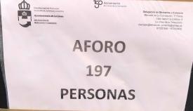 El aforo es, desde hoy, de 197 personas en el Mercado de la Concepción