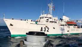 El hidrográfico 'Tofiño' en plena navegación. Foto ARMADA