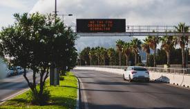 Acceso desde La Línea a la verja de Gibraltar. Foto Sergio Rodríguez