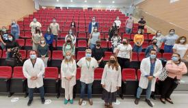 Algunos alumnos durante su bienvenida. Foto: Junta