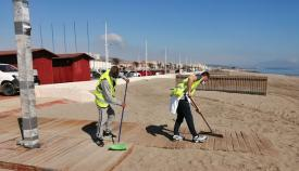 Los trabajos de playas se han ido llevando a cabo en las últimas semanas