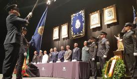 Un momento del acto del Día de la Policía en La Línea