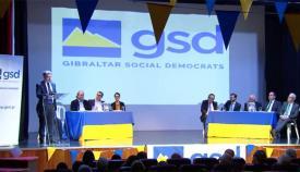 Acto electoral durante la pasada campaña del GSD