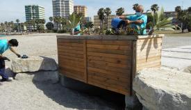 Una de las actuaciones de mejoras en el litoral linese. Foto: lalínea.es