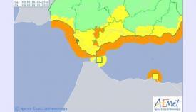 La alerta naranja llega a toda la costa de la provincia de Cádiz