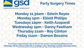 Agenda para esta semana de los parlamentarios del GSD