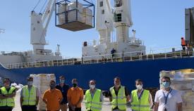 El Puerto acoge la exportación de 1.600 toneladas de carne congelada