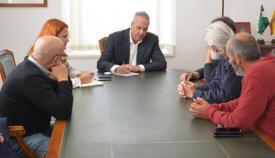 Ruiz Boix, con los representantes de los trabajadores de Masa