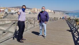 Juan Franco y el concejal de Playas, Rafael León