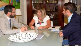 Juan Franco, Irene García y Mario Fernández, en una imagen de archivo