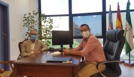 Juan Lozano y Juan Franco, esta mañana en La Línea