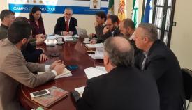 El Consejo de alcaldes, celebrado esta mañana en la sede de la Mancomunidad