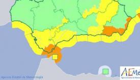 Aemet activará mañana la alerta naranja en el Estrecho
