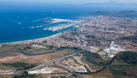 Algeciras y parte de la comarca, a vista de pájaro