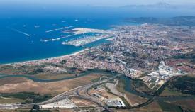 Imagen aérea de Algeciras y parte de la comarca.