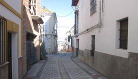 Calle Almoraima, actualmente cerrada al tráfico