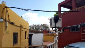 Renovado el alumbrado de la calle Noria de Algeciras