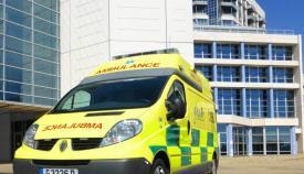 Una ambulancia de los servicios sanitarios de Gibraltar