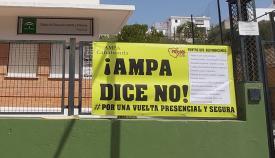 Las AMPAS claman en San Roque por una vuelta al cole con seguridad