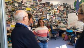 Visita de la concejal de Turismo al Colegio Internacional de Sotogrande