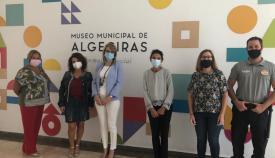 Equipo del Museo con Pilar Pintor a la cabeza. Foto Ayuntamiento de Algeciras