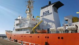 El Aquarius, barco con bandera de Gibraltar hasta ahora