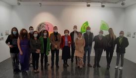 La inauguración de la exposición, esta mañana en la sede de Asansull