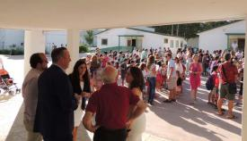 Imagen de archivo de una visita del alcalde al Gloria Fuertes